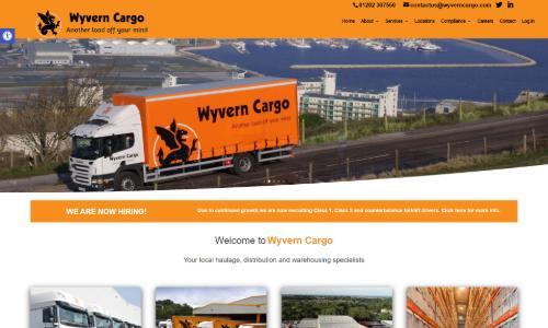 UK Haulage Company website redesign
